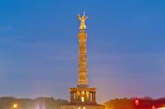Przy Berlin Siegessaule, Niemcy zdjęcia royalty free