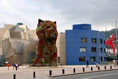 Przy Bilbao Guggenheim Muzeum Obraz Stock