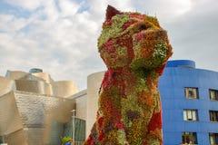 Przy Bilbao Guggenheim Muzeum Zdjęcia Royalty Free