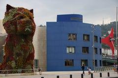 Przy Bilbao Guggenheim Muzeum Obrazy Royalty Free
