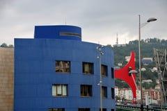 Przy Bilbao Guggenheim Muzeum Obraz Royalty Free
