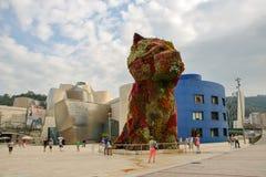 Przy Bilbao Guggenheim Muzeum Fotografia Royalty Free