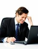 Przy biurem stresujący mężczyzna Fotografia Stock