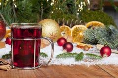 Przy Bożymi Narodzeniami rozmyślający wino Obraz Royalty Free