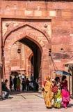 Przy bramami Czerwony fort Fotografia Royalty Free