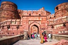 Przy bramami Czerwony fort Zdjęcie Royalty Free