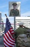 Przy Checkpoint Charlie zdjęcie royalty free