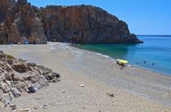 Przy Crete wyspą Agiofarago wąwóz Fotografia Stock
