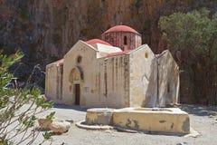 Przy Crete wyspą Agiofarago wąwóz Fotografia Royalty Free