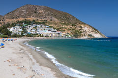 Przy Crete wyspą Fodele zatoka Zdjęcia Royalty Free