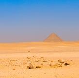 Przy Dahshur czerwony ostrosłup, Kair, Egipt zdjęcie royalty free