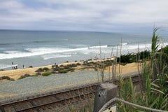 Przy Del Ocean pacyficzna Plaża Mącący, Kalifornia Zdjęcia Stock