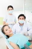 Przy dentystyką Zdjęcia Stock