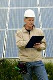 Przy Energii Słonecznej Stacją wizytacyjna Wizyta fotografia royalty free