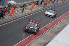 PRZY FIA samochody GT zatrzymują Obraz Stock