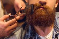 Przy fryzjera męskiego sklepem Obraz Stock