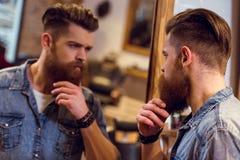 Przy fryzjera męskiego sklepem Obrazy Royalty Free