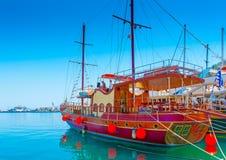 Przy Kalymnos wyspą obrazy stock
