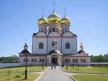Przy katedrą ikona matka bóg Iverskoy Valdaysky Iveron Bogoroditsky monaster svyatoozersky Obraz Stock