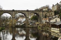 Przy Knaresborough kamienny wiadukt Zdjęcia Royalty Free