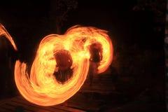 Przy Kood wyspą pożarniczy przedstawienie Fotografia Stock
