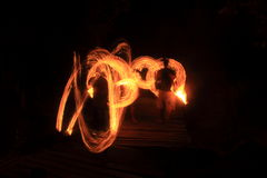 Przy Kood wyspą pożarniczy przedstawienie Fotografia Royalty Free
