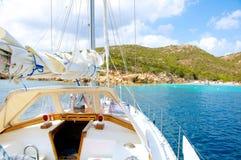 Cala Granara, Spargi Sardinia Włochy Zdjęcia Royalty Free