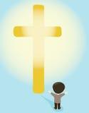 Przy krzyżem ilustracja wektor
