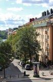 Przy Kungsholmen w Sztokholm Zdjęcia Royalty Free