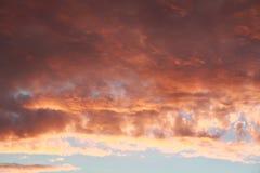 Przy lato zmierzchu niebo Zdjęcia Stock