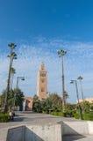 Przy Marrakech Koutoubia Meczet, Maroko Zdjęcia Royalty Free