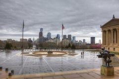 Przy muzeum sztuki w Filadelfia, Pennsylwania obraz royalty free