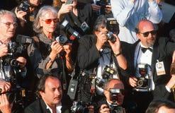 Przy Nagroda Filmowa paparazzi fotografowie Obrazy Royalty Free