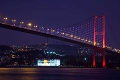Przy noc Bosphorus Most 3 Zdjęcia Stock