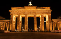 Przy noc Brandenburg brama Obraz Royalty Free