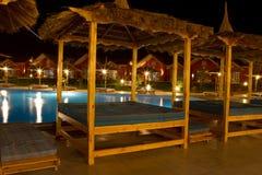 Przy noc dopłynięcie hotelowy basen Obraz Royalty Free