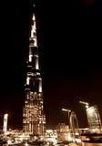 Przy noc Dubaj śródmieście obraz royalty free