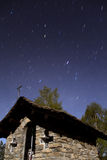 Przy noc góra krajobraz Fotografia Stock