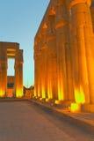 Przy noc Luxor świątynia. (Egipt) fotografia stock