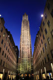 Przy noc Rockefeller Centrum Obraz Stock
