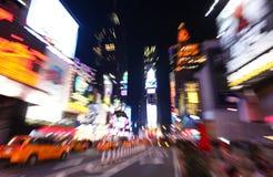 Przy noc times square zdjęcie stock