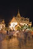 Przy noc uroczysty Pałac, Bangkok zdjęcie stock