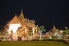 Przy noc uroczysty Pałac, Bangkok Obrazy Stock