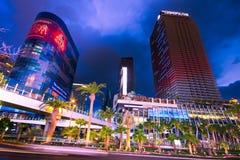 Przy Noc Vegas Pasek zdjęcie stock