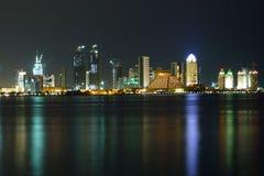 Przy noc zachodni Zatoka Fotografia Royalty Free