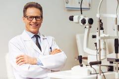 Przy oftalmologiem obrazy royalty free