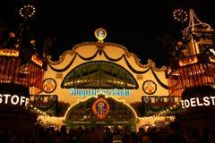 Przy Oktoberfest piwny namiot Fotografia Royalty Free