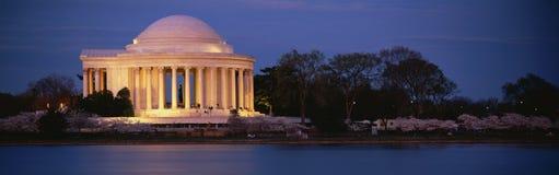Przy półmrokiem Jefferson Pomnik Fotografia Royalty Free