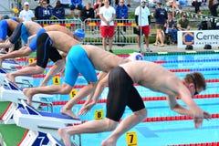 * przy pływanie platformą startową Fotografia Stock