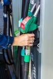 Przy paliwową pompą Obraz Stock